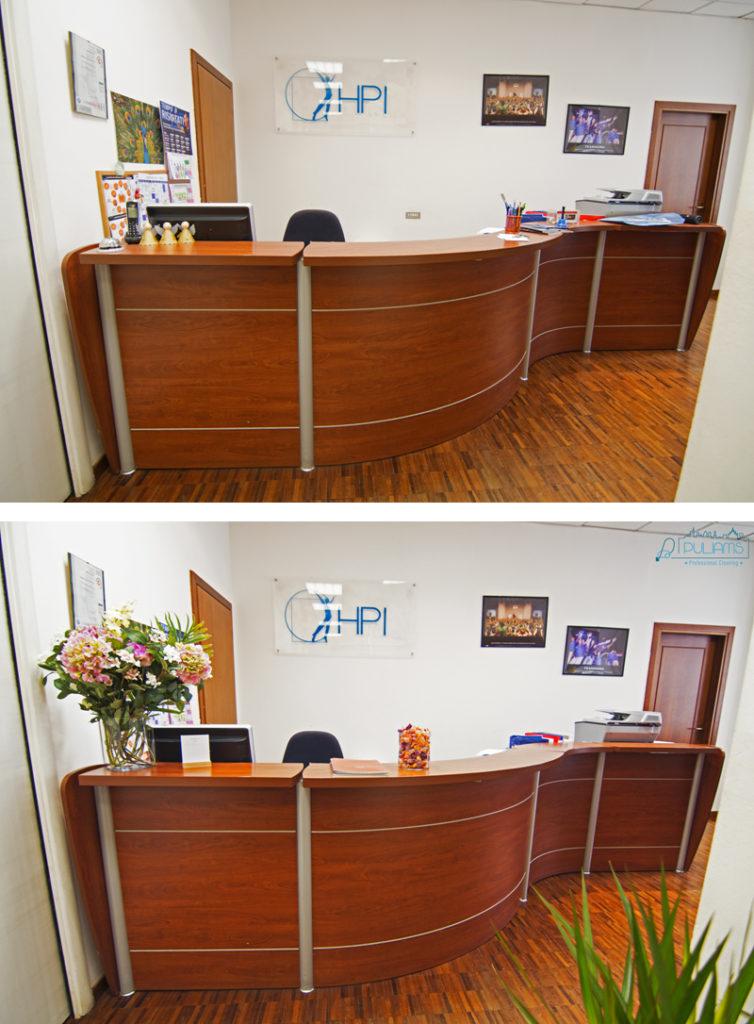 reception, office make-up